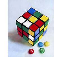 Rubik's Cube pastel painting Photographic Print