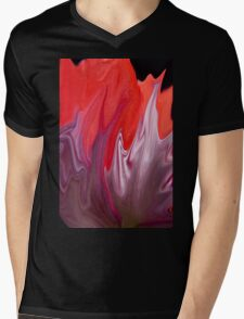 Abstract Poppy  Mens V-Neck T-Shirt