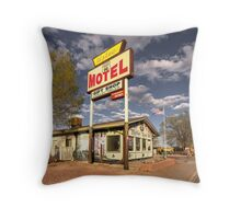The Aztec Motel  Throw Pillow