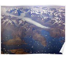 Greenland Glacier Poster