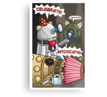 Dalek Party Metal Print