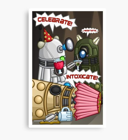 Dalek Party Canvas Print