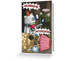 Dalek Party Greeting Card