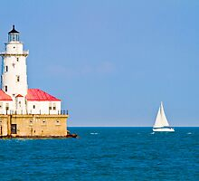 Chicago harbor lighthouse. Chicago, IL, USA by PhotoStock-Isra