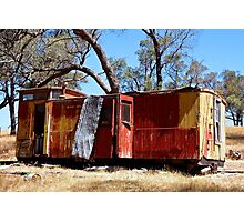 Old guards van on a hill top in Metcalfe Victoria Photographic Print