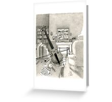 Violin and Sitting-Room Greeting Card