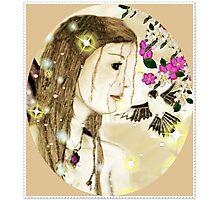 Fairy Woman with Bird Photographic Print