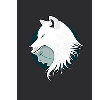 Boy Cries Wolf (White) Photographic Print