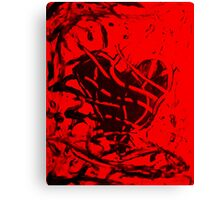 Red and Black Heart Canvas Print