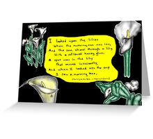 The Lily & The Bee Greeting Card