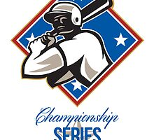 Baseball Championship Series Final Retro by patrimonio