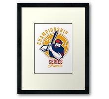 Championship Baseball Series Finals Retro Framed Print