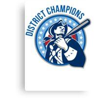 American Patriot Baseball District Champions Canvas Print