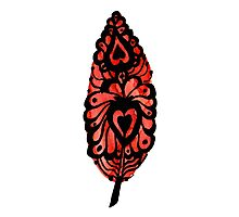 Heart Feather Photographic Print