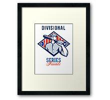 Baseball Divisional Series Finals Retro Framed Print