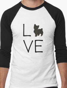Yorkie Love Men's Baseball ¾ T-Shirt