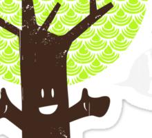 Tree huger Sticker