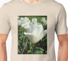 White tulips, delicate tulips.... Unisex T-Shirt