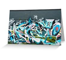 Abstract Graffiti detail on the textured textured wall Greeting Card