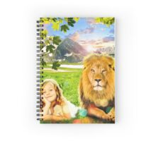 Just See Yourself (Girl and Lion) Spiral Notebook