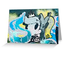 Abstract Graffiti on the textured brick wall Greeting Card