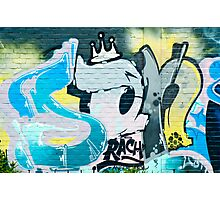 Abstract Graffiti on the textured brick wall Photographic Print