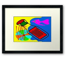 LOVE YOU 13 Framed Print