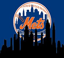 New York Silhouette Mets by AbsoluteLegend