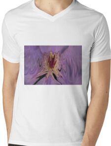 Clematis Abstract Mens V-Neck T-Shirt