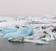Jokulsarlon 9-shot panorama by Christopher Cullen