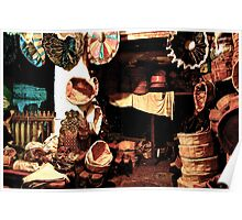 SHOP OF TRADITIONAL POUFS!!! Morocco Poster