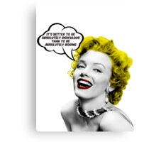 Absolutely Ridiculous Marilyn Monroe Canvas Print