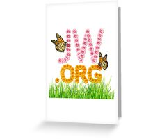 JW.ORG (flowers and butterflies) Greeting Card