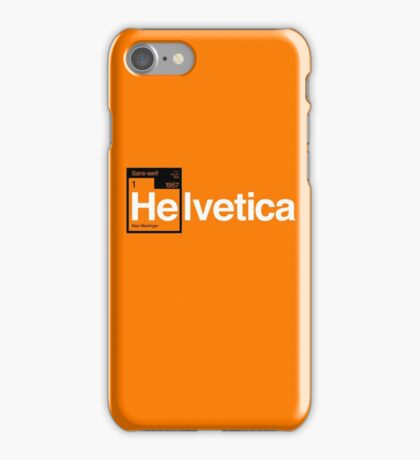 Helvetica Periodic Logo 1 (in black and white) iPhone Case/Skin