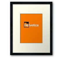 Helvetica Periodic Logo 1 (in black and white) Framed Print