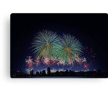 Perth Australia Day Skyworks 2014  Canvas Print