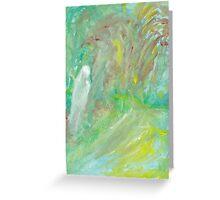 among Weeping Willows Greeting Card