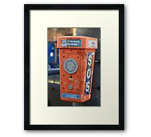 Emergency call Framed Print