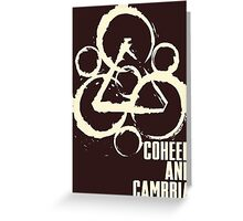 coheed and cambria the color before the sun Tour 2016 5 Greeting Card