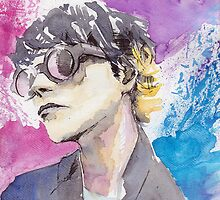 Gerard Way Art Is Smart Portrait  by 50milestonow