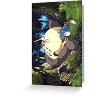 Totoro sleeping Greeting Card