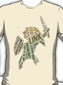 Wordle Toon Link 2 T-Shirt