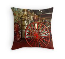 Antique Fire Wagon, Paterson Museum Throw Pillow