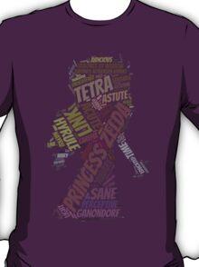 Wordle Toon Zelda T-Shirt