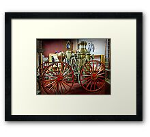 Antique Fire Wagon, Paterson Museum - View 2 Framed Print