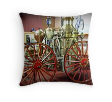 Antique Fire Wagon, Paterson Museum - View 2 Throw Pillow