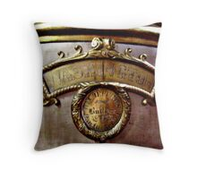 Detail Closeup Water Tank - Antique Fire Wagon Throw Pillow