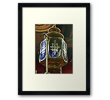 Lamp or Ornament At the Top - Antique Fire Wagon Framed Print