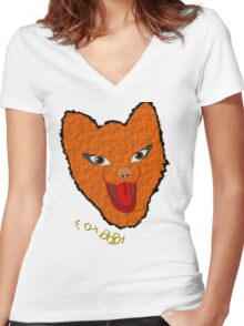 Fox Baby T-shirt Women's Fitted V-Neck T-Shirt