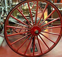 Wagon Wheel - Antique Fire Wagon by Jane Neill-Hancock